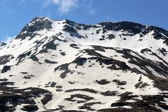 Snow. Mountain on a Sunny Day Stock Images