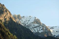 Snow. Mountain on a Sunny Day Fog Royalty Free Stock Photo