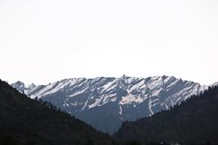 Snow. Mountain on a Sunny Day Fog Royalty Free Stock Images