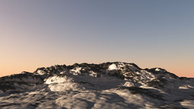 Snow Mountain Sunset Royalty Free Stock Photos