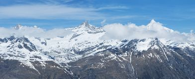 Snow mountain in Swiss Royalty Free Stock Images
