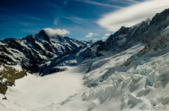 Snow mountain in Swiss. Snow mountain somewhere in Swiss Royalty Free Stock Images