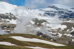 Snow mountain in switzerland. This is a photo of snow mountain in switzerland Royalty Free Stock Photography