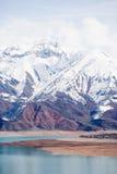 Snow Mountain,Tashkent,Uzbekistan. Snow mountain & lake arround shot in Tashkent,Uzbekistan Stock Photo