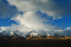 Snow Mountain in Tibet. Beside the Qinghai-Tibet railway Royalty Free Stock Images