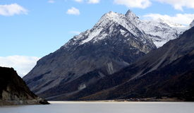Snow mountain in tibet Royalty Free Stock Photos