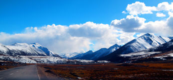 Snow mountain in Tibet. A pure snow moutain in Tibet China Stock Images