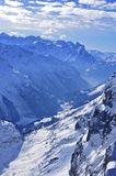 Snow mountain in titlis Stock Images