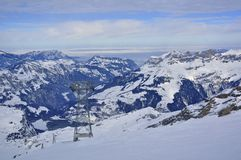 Snow mountain in titlis Royalty Free Stock Image