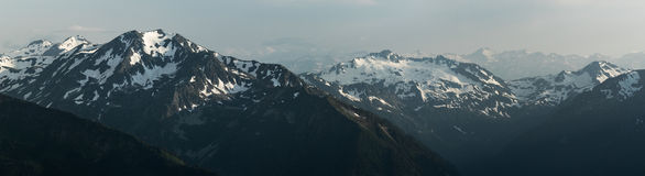 Snow mountain tops. Greater Caucasus Mountain Range. Stock Photography