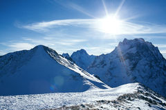 Snow mountain Stock Images