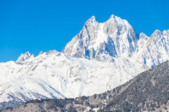 Snow Mountain Ushba Stock Photos