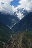 Snow mountain and valley Stock Photos