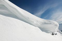 Snow mountain view Stock Images