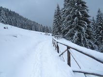 Snow and mountain Stock Photos