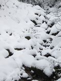 Snow and mountain Royalty Free Stock Image
