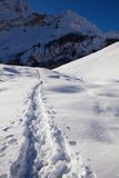 Snow and mountain Stock Photography