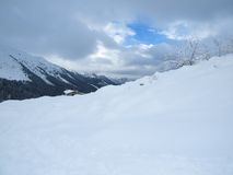 Snow and mountain Royalty Free Stock Images
