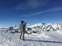 Snow Mountain View Royalty Free Stock Photo