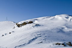Snow mountain.Winter panorama Royalty Free Stock Image