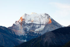 Snow mountain Xiannairi in Daocheng Yading Royalty Free Stock Images