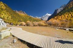 snow mountain at Yading nature reserve, The last Shangri la stock photo