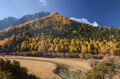 Snow mountain at Yading nature reserve, The last Shangri la, Daocheng-Yading, Sichuan, China stock photo
