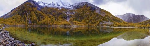 Snow Mountain Zhara & Lake Zhara Royalty Free Stock Image