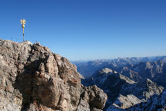 Snow Mountain Zugspitze, Germany. Royalty Free Stock Images