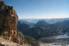 Snow Mountain Zugspitze, Germany. Royalty Free Stock Photos