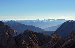 Snow Mountain Zugspitze, Germany. Royalty Free Stock Photography