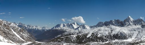 Snow mountaine landscape panorama Royalty Free Stock Images