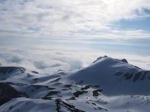 Snow mountains. Big mountains stock photos