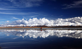 Snow mountains. Beautiful snow mountains of the Qinghai-Tibet Plateau Stock Photography