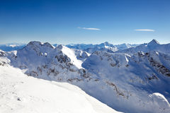 Snow mountains Stock Images