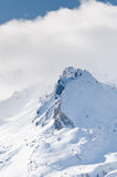 Snow on mountains Royalty Free Stock Images