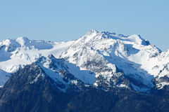 Snow mountains royalty free stock photos