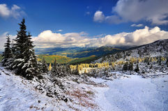 Snow in the mountains Stock Photography