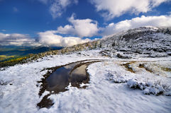 Snow in the mountains Royalty Free Stock Photo