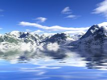 Snow and mountains. Stock Image
