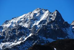 Snow mountains Royalty Free Stock Photography