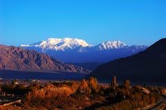 Snow Mountains Stock Photography