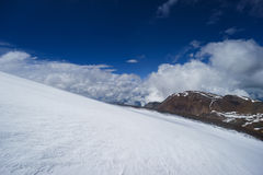 Snow in the mountains. Altai Stock Photos