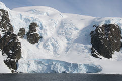 Snow mountains in Antarctic Stock Images