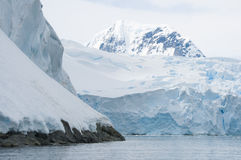 Snow mountains in Antarctic Stock Photo