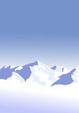Snow-mountains-background. Vector illustration of snowy mountains, with lot's of space to edit text Royalty Free Stock Photos