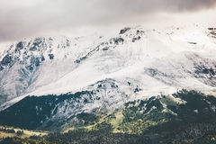 Snow Mountains beautiful Landscape Royalty Free Stock Photo