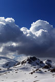 Snow mountains and blue sky Royalty Free Stock Photo