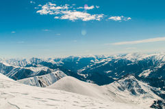 Snow mountains on bright Royalty Free Stock Photography