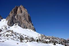 Snow mountains. Snow dolomiti mountain ski sport stock photo